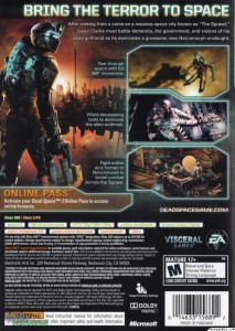 Dead Space 2 Back Cover