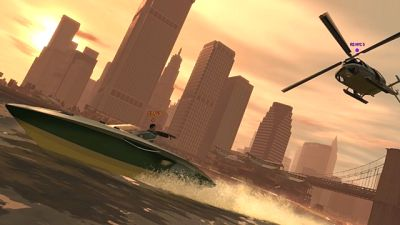 Grand Theft Auto, boat, helicopter, etc etc