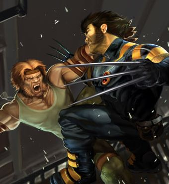 Wolvie and Sabertooth
